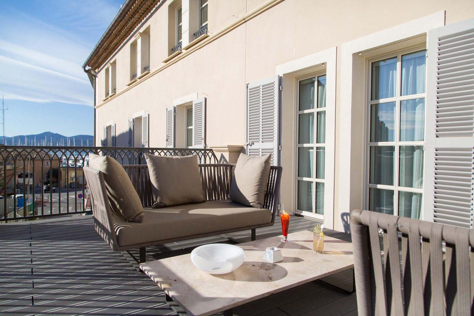 hotel de paris saint tropez suite terrasse