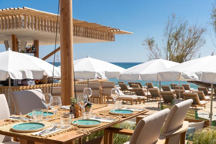 Private beach in saint tropez